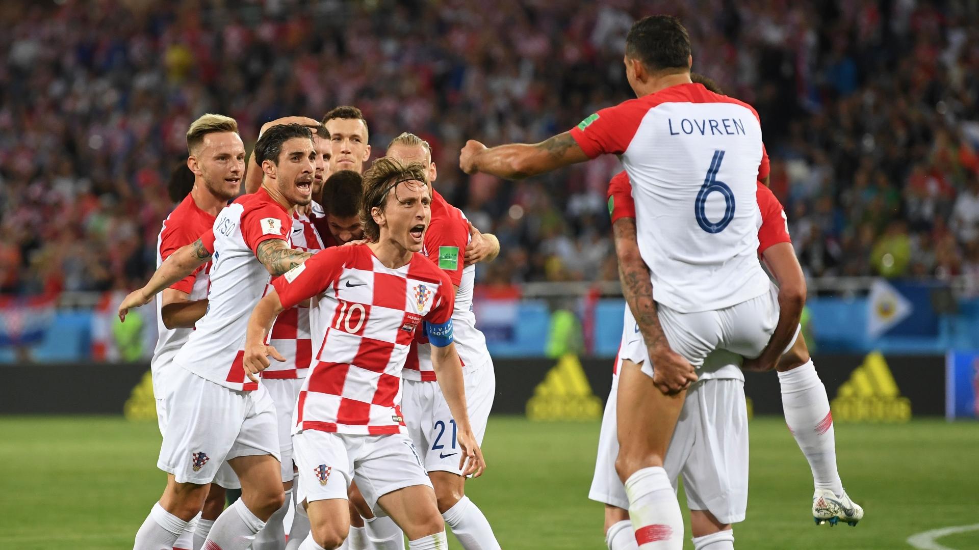 Croatia celebrate vs Nigeria