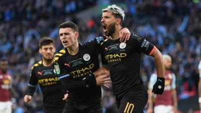 Sergio Aguero Aston Villa vs Manchester City Carabao Cup final 2019-20