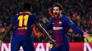 Lionel Messi Ousmane Dembele Barcelona