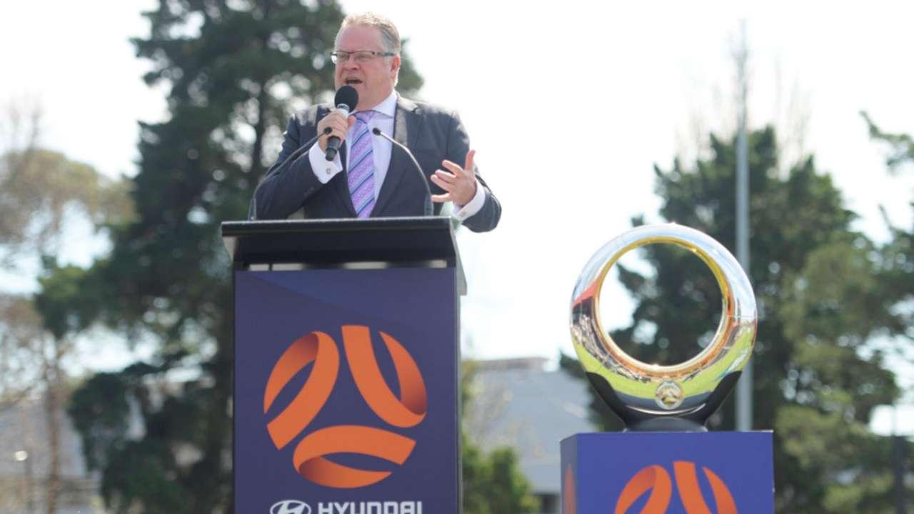 Greg O'Rourke A-League trophy