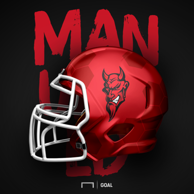 Manchester United NFL Super Bowl / football helmet