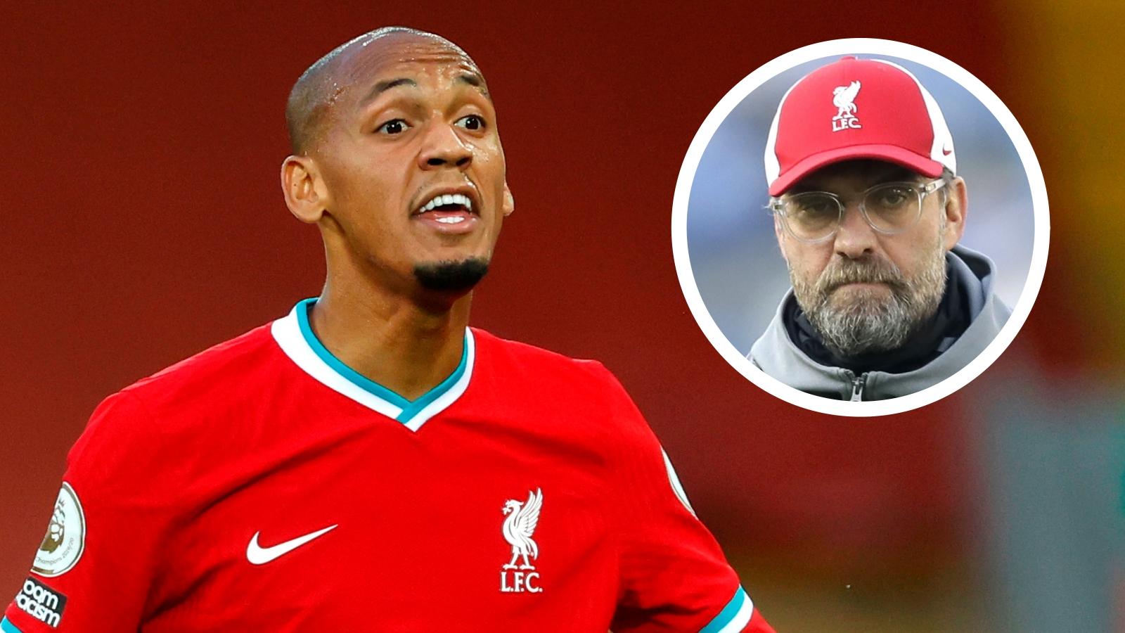 Fabinho misses Tottenham game as Liverpool get fresh injury headache