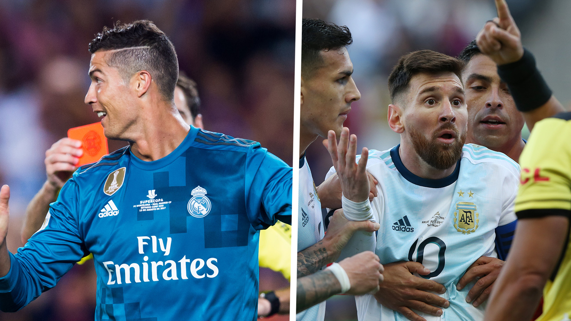 Who Has More Red Cards In Their Career Lionel Messi Or Cristiano Ronaldo Goal Com
