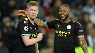 Kevin De Bruyne Raheem Sterling Manchester City 2019-20