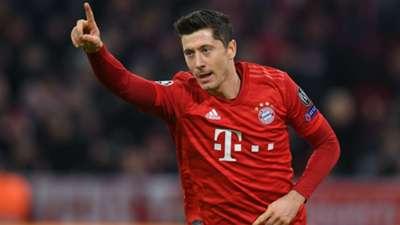 Robert Lewandowski Celebration Bayern Munchen Olympiacos 11062019