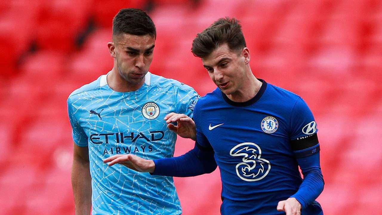 Mason Mount Ferran Torres Chelsea vs Man City FA Cup 2020-21