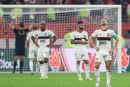 Flamengo lamenta durante derrota para o Liverpool na final do Mundial