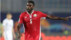 Musa Mohamed of Kenya and Harambee Stars during the 2019 Africa Cup of Nations Finals