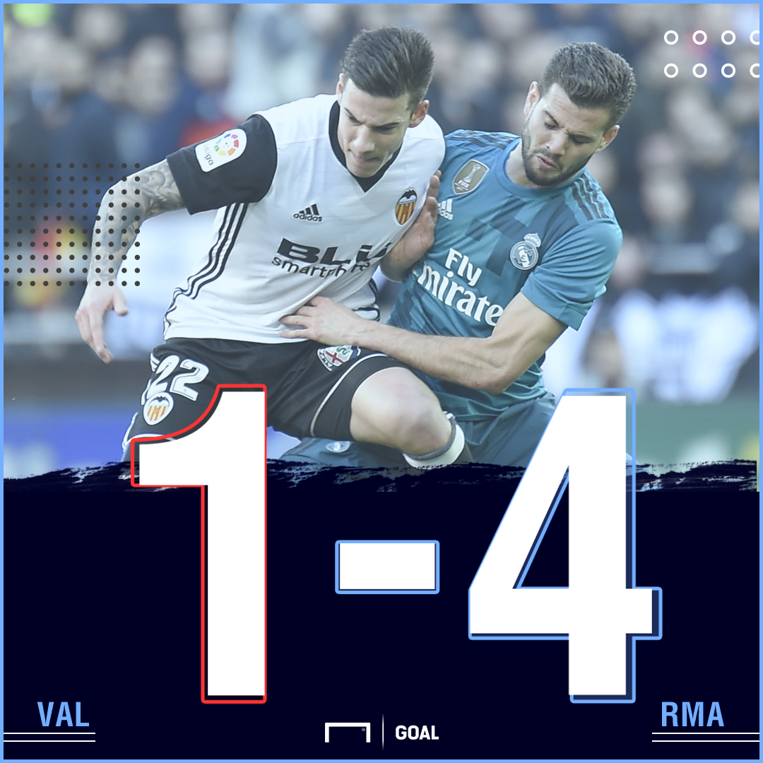 Valencia Real Madrid score