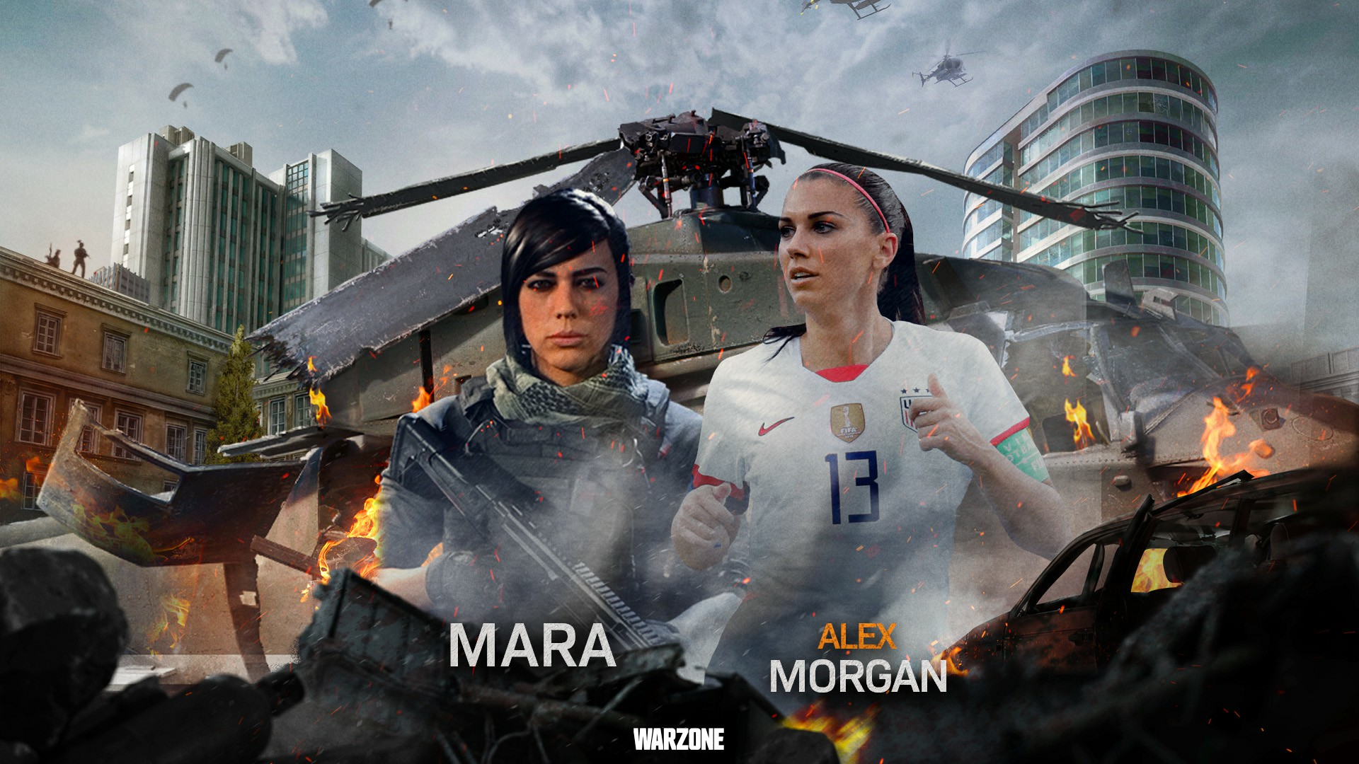 Call of Duty: Warzone | Coalition vs Allegiance | Alex Morgan joins the ultimate team