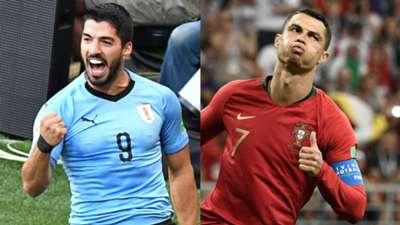 2018-06-30-Uruguay-Luis Suarez-Portugal-Cristiano Ronaldo