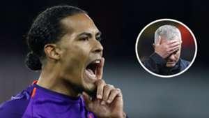 Virgil van Dijk Jose Mourinho 2018