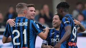 Atalanta celebrating Lecce Serie A