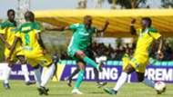 Gor Mahia captain Kenneth Muguna vs Mathare United.