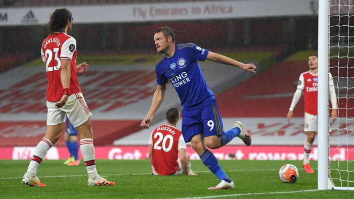 Vardy Arsenal Leicester 2020