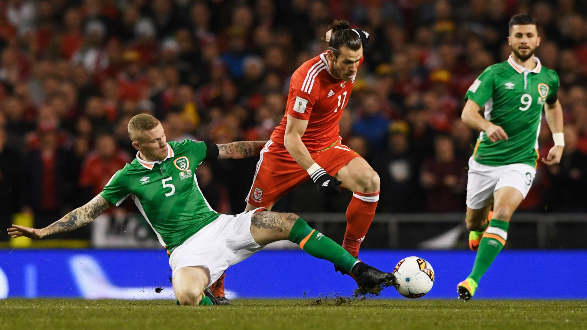 James McClean Gareth Bale Republic of Ireland Wales 28032017