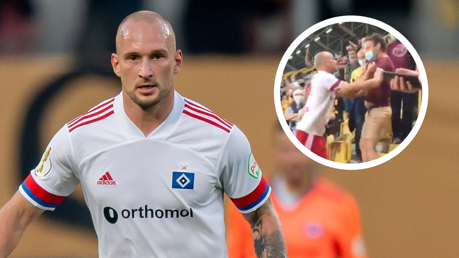 Hamburg defender Toni Leistner involved in shocking altercation with Dynamo Dresden fan