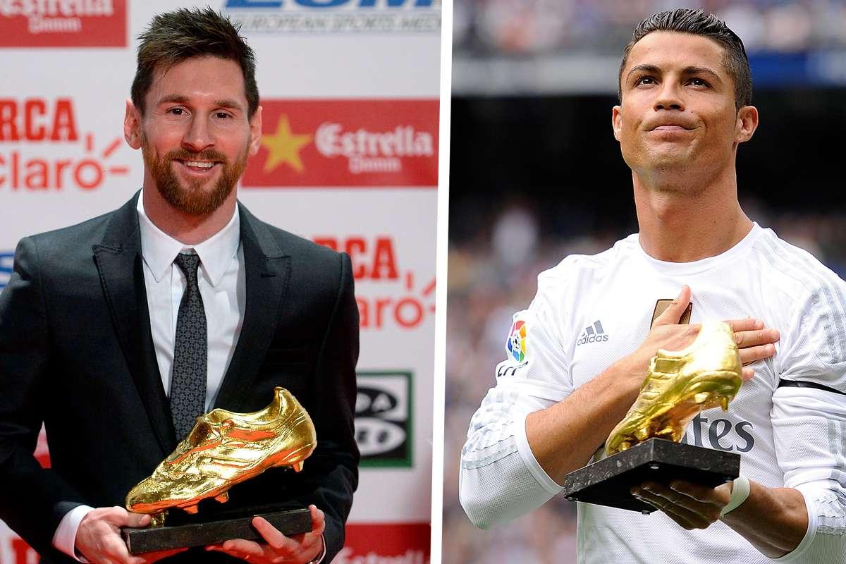 Lionel Messi Cristiano Ronaldo Golden Shoe
