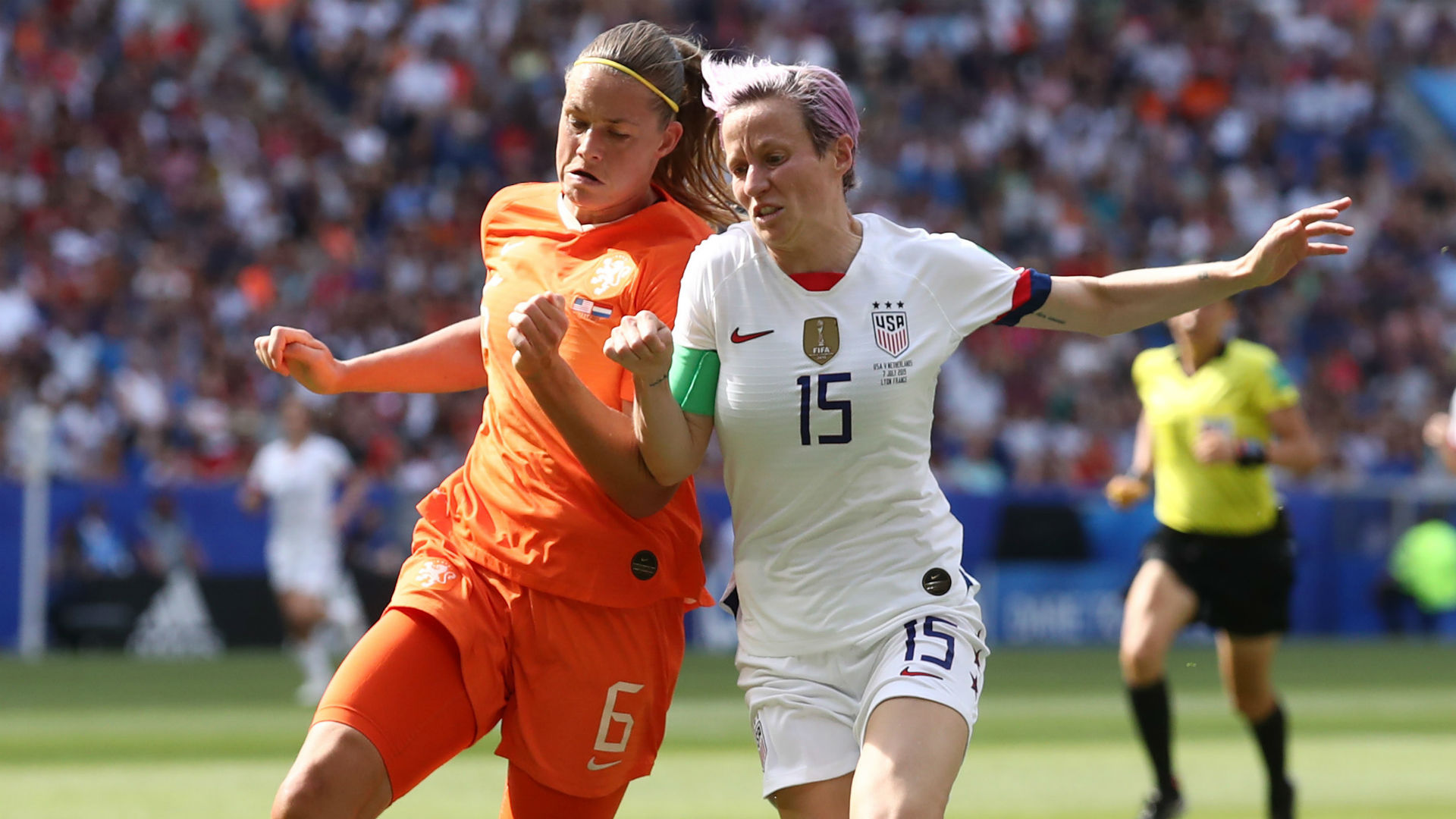 Amouk Dekker Megan Rapinoe USWNT Netherlands Women's World Cup 2019