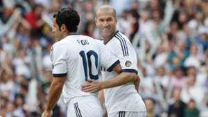 Luis Figo Zinedine Zidane Real Madrid