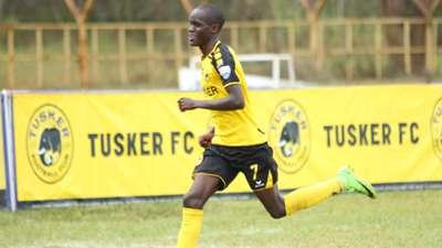 Boniface Muchiri of Tusker celebrates against Zoo Kericho.j