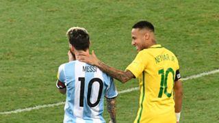 Lionel Messi Neymar Argentina Brazil 10112016