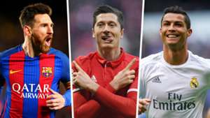 Robert Lewandowski Lionel Messi Cristiano Ronaldo