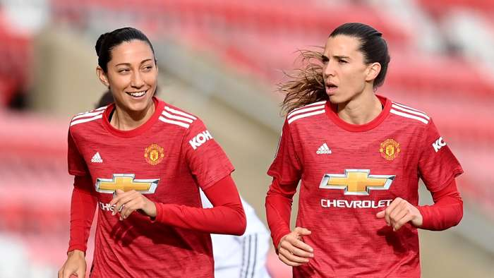 Christen Press, Tobin Heath, Manchester United 2020-21
