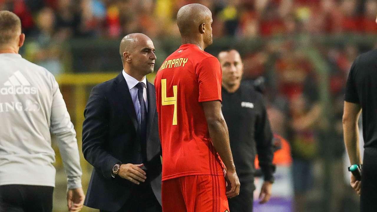 Roberto Martinez Vincent Kompany Belgium Portugal international friendly 2018