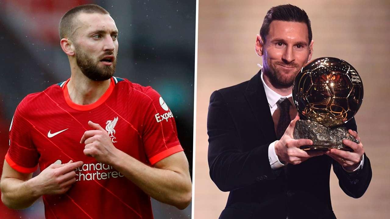 Nat Phillips Lionel Messi Liverpool Ballon d'Or GFX