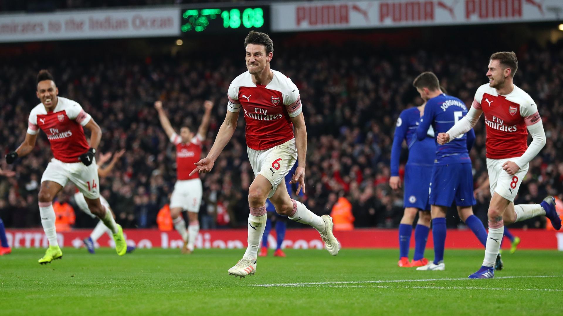 Laurent Koscielny Arsenal Chelsea EPL 01192019