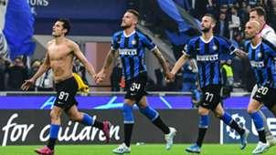Inter celebrating Borussia Dortmund