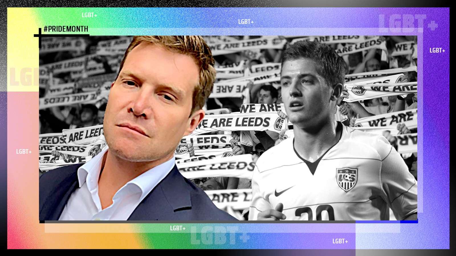 David Haigh Robbie Rogers Leeds United LGBT+ PRIDE GFX