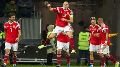 Artem Dzyuba Russia Scotland Euro 2020 qualifying