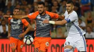 Gaetan Laborde Stefan Mitrovic Montpellier Strasbourg Ligue 1 15092018
