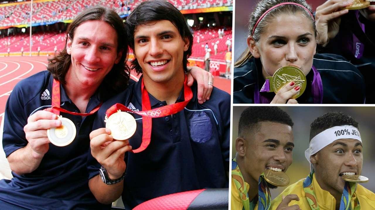 Lionel Messi Sergio Aguero Alex Morgan Gabriel Jesus Neymar Olympics gold medal
