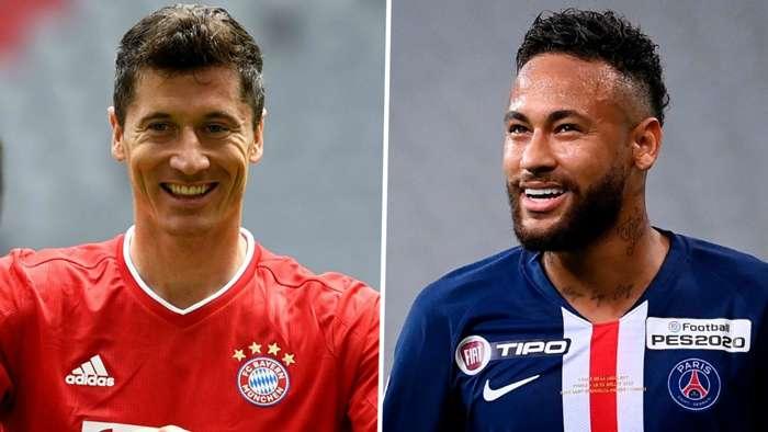 Robert Lewandowski Bayern Munich Neymar Paris Saint-Germain PSG 2020