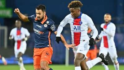 Timothee Pembele Gaetan Laborde Montpellier PSG Ligue 1 05122020