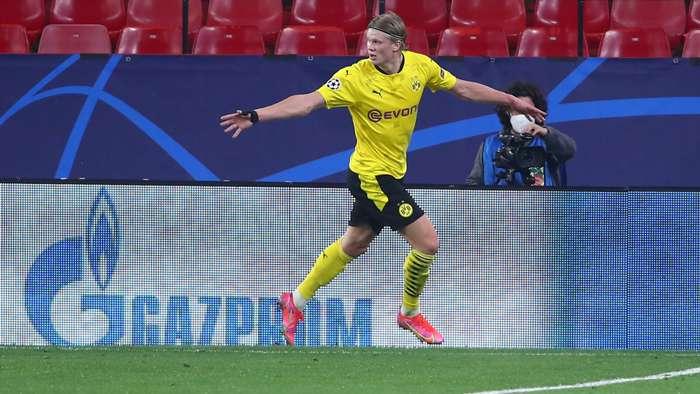 Erling Haaland Dortmund Sevilla Champions League 2020-2