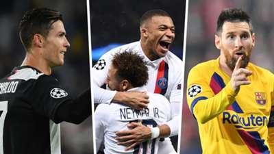 Ronaldo Mbappe Neymar Messi GFX