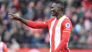 Michael Olunga scores for Girona FC.
