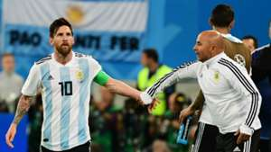Lionel Messi Jorge Sampaoli Argentina World Cup 2018