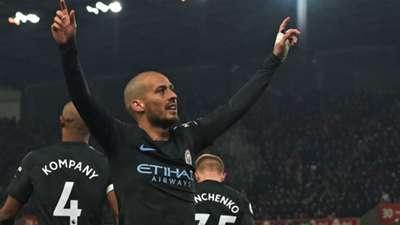David Silva Manchester City Premier League Stoke City 12032018