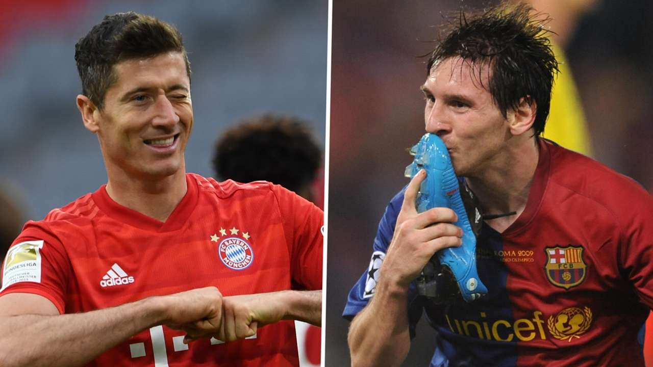 Robert Lewandowski Bayern Munich 2021 Lionel Messi Barcelona 2009
