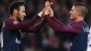Marco Verratti Neymar PSG Anderlecht Champions League 31102017