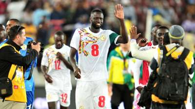 Senegal captain Cheikhou Kouyate after a match against South Africa