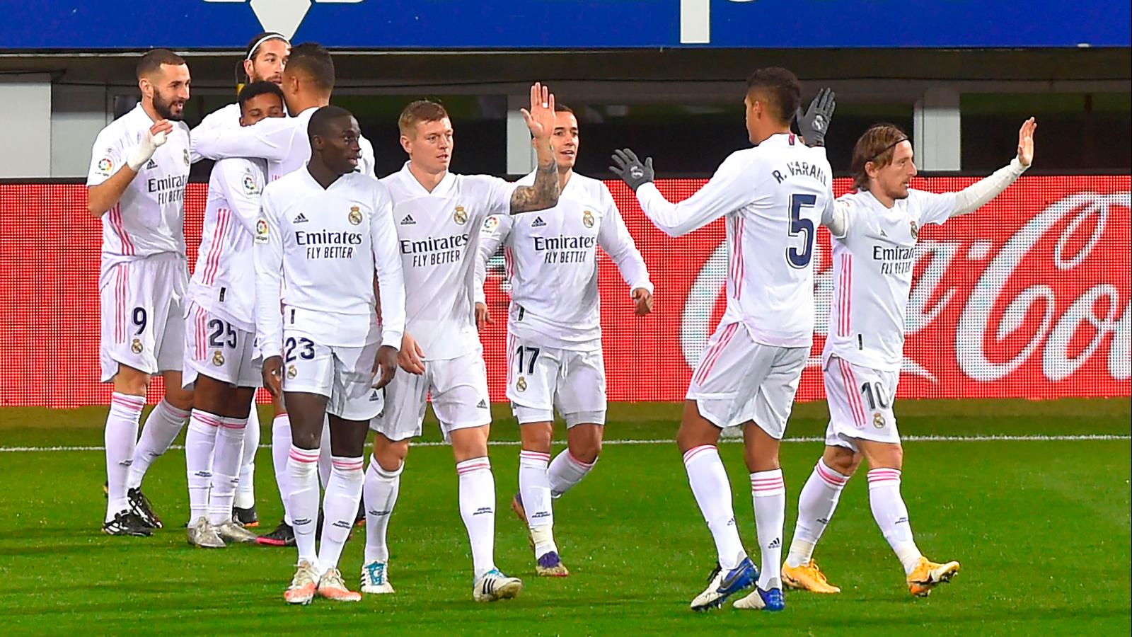 Real Madrid toma el liderato de LaLiga tras vencer a Eibar este domingo