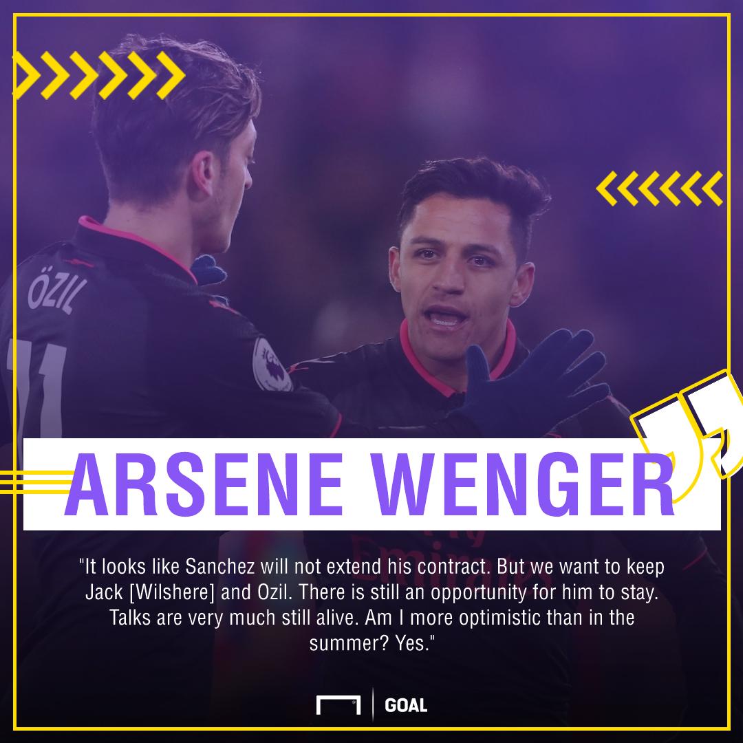 Arsene Wenger Alexis Sanchez go Mesut Ozil stay