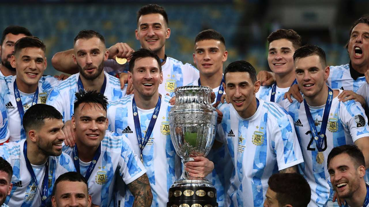Messi Di Maria Argentina Copa America 2021