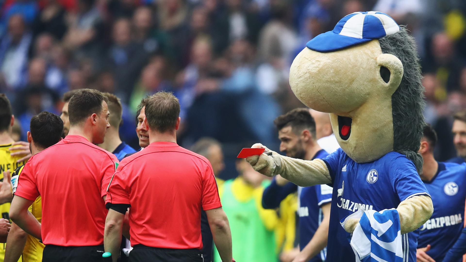 Mascot Escapes Ban But Schalke Warned After Red Card Stunt Goal Com